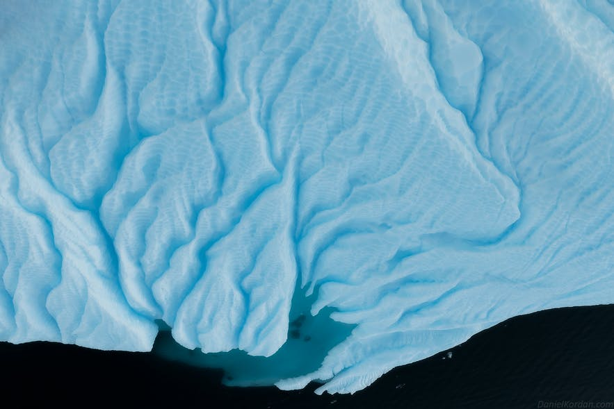 Most of Antarctica's coastline is ice shelves.