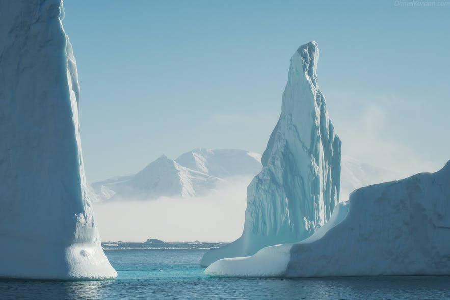 Antarctica is bright throughout the summer due to the Midnight Sun.