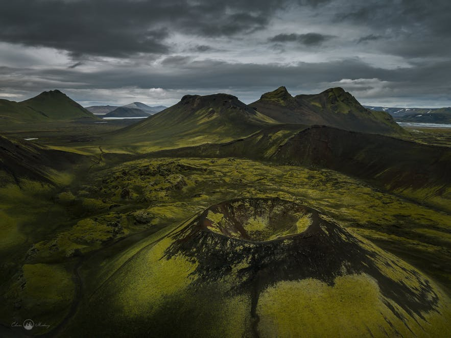A green and black Icelandic landscape taken from above - Iceland Photography | Everything You Need To Know