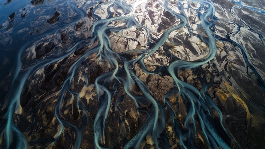 Aerial view of a river delta in Iceland - Iceland Photography | Everything You Need To Know