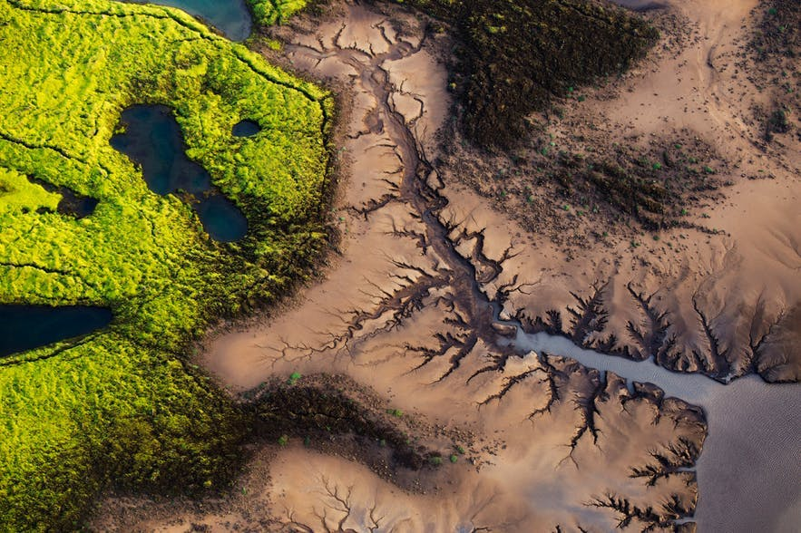 A top-down view of the Icelandic landscape - Iceland Photography | Everything You Need To Know