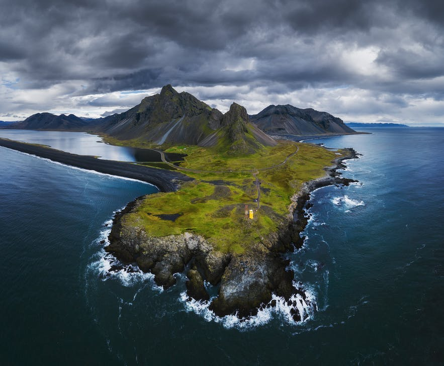 An aerial view of a rocky landscape and coastline - Iceland Photography | Everything You Need To Know
