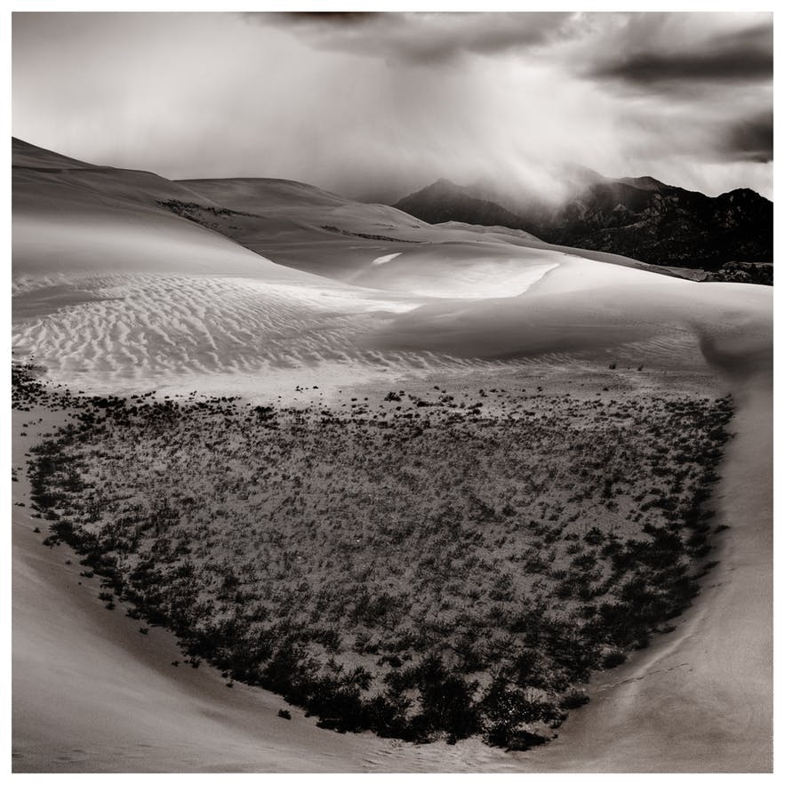 Texture and form is shown through a black and white landscape pictures - landscape Photography | Everything You Need To Know