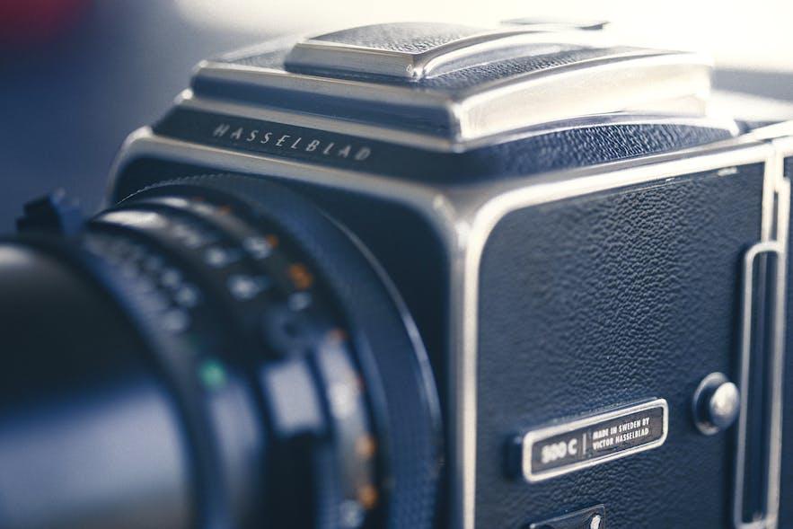 A close up of a medium format camera - types of cameras | digital